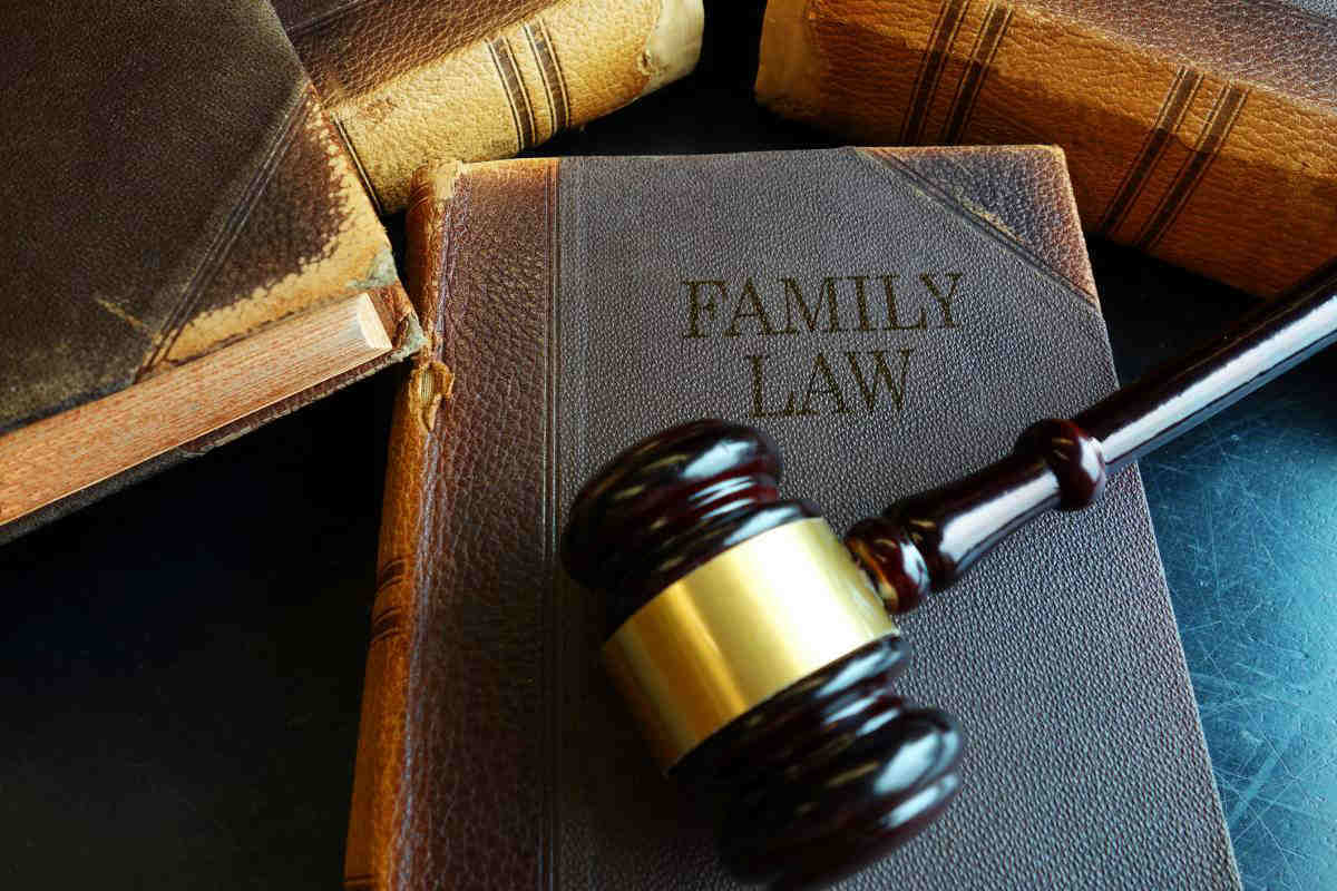 gavel on family law book